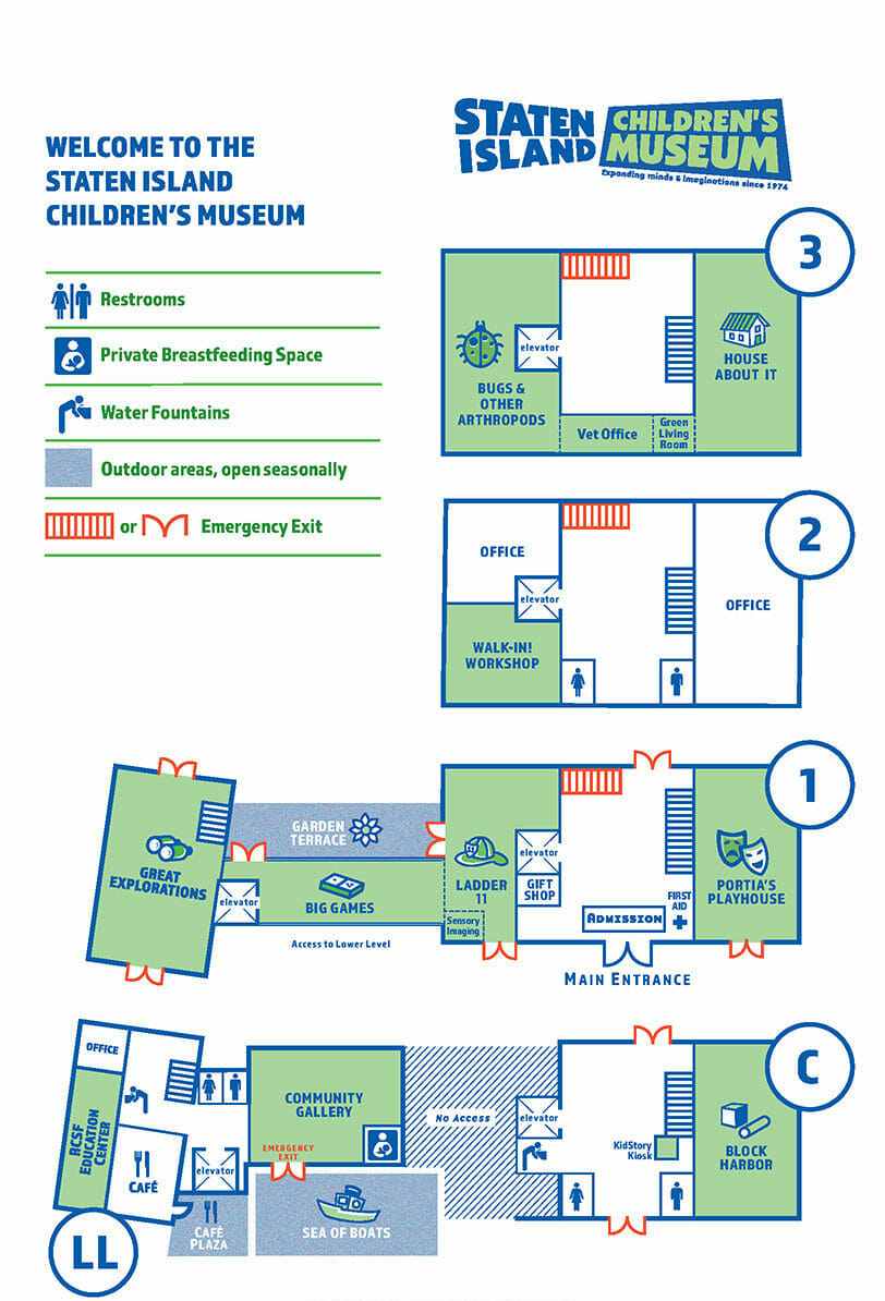 map layout of museum