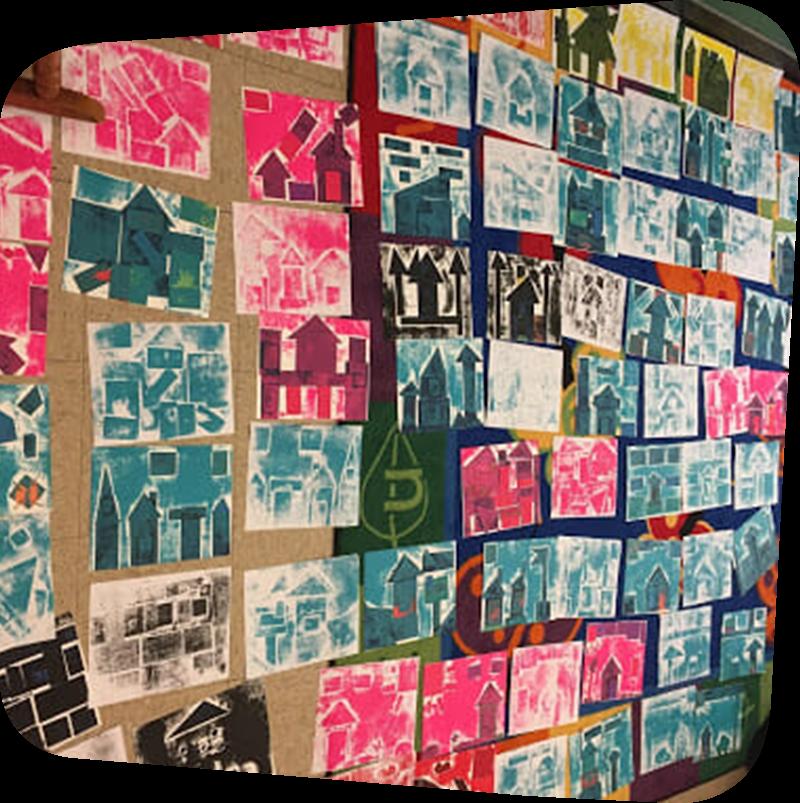 Collage of children artwork