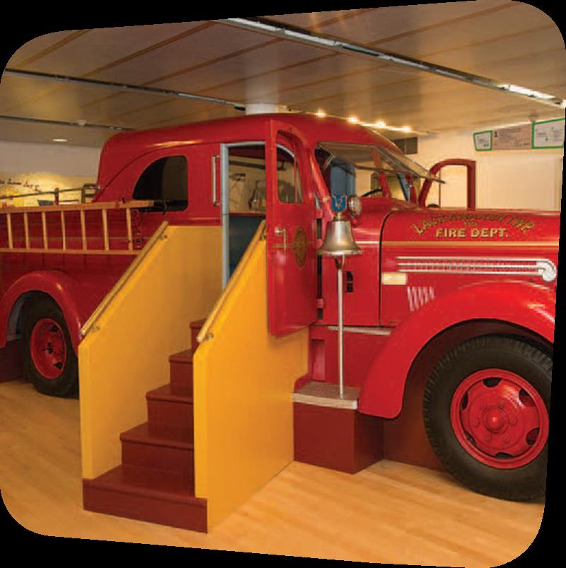 fire truck in museum