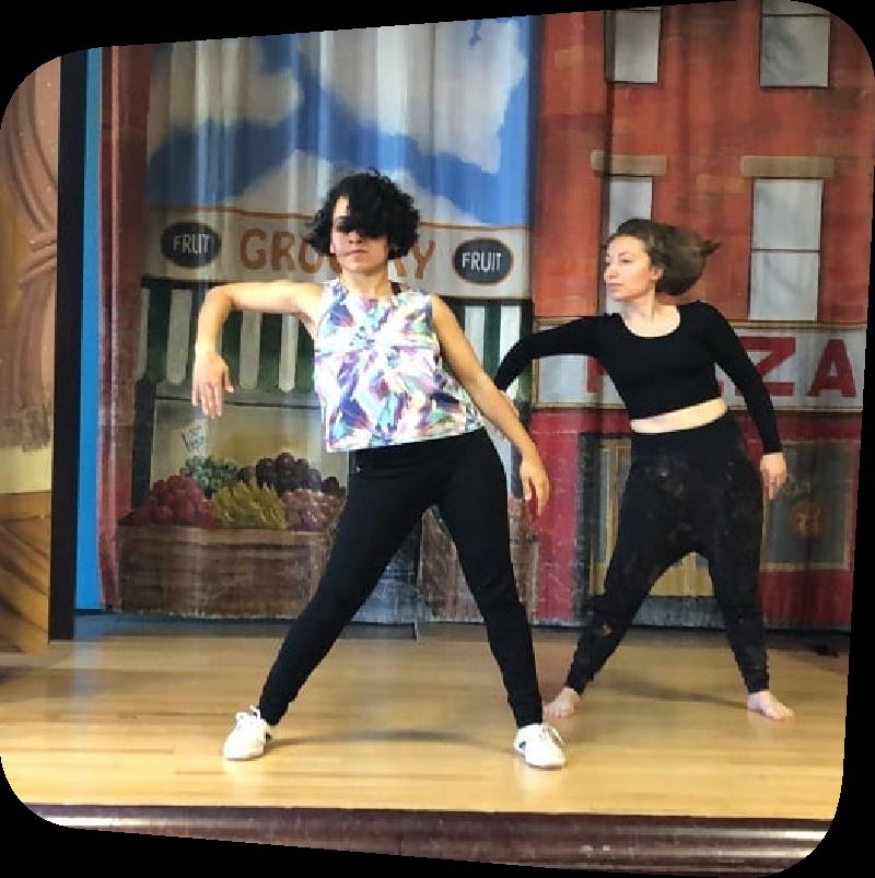 anjoli dancing on stage